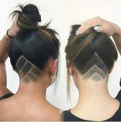 Corte de cabello rapado atras
