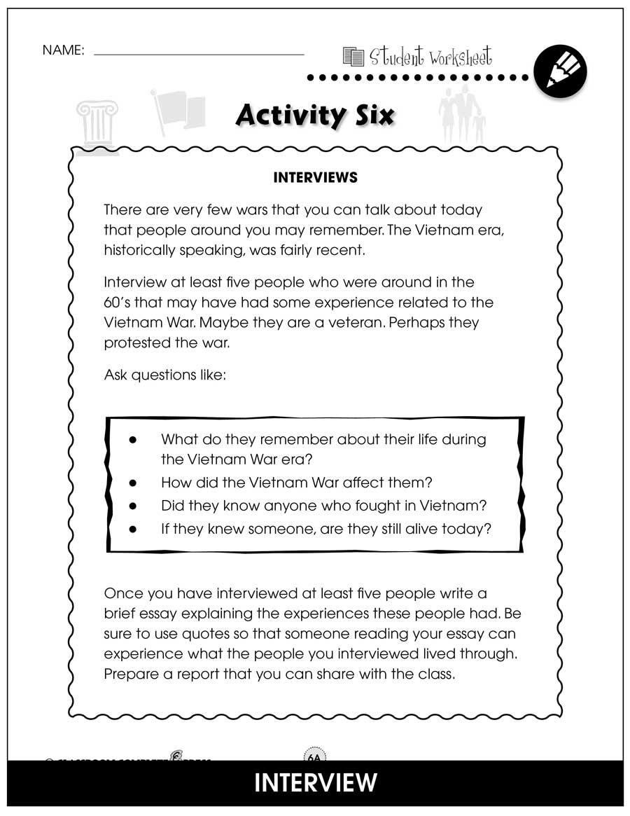 Vietnam War Bonu Worksheet Grade 5 To 8 Ebook Classroom Complete Pres Teacher Planning Social Studie Comprehension Activities The Essay