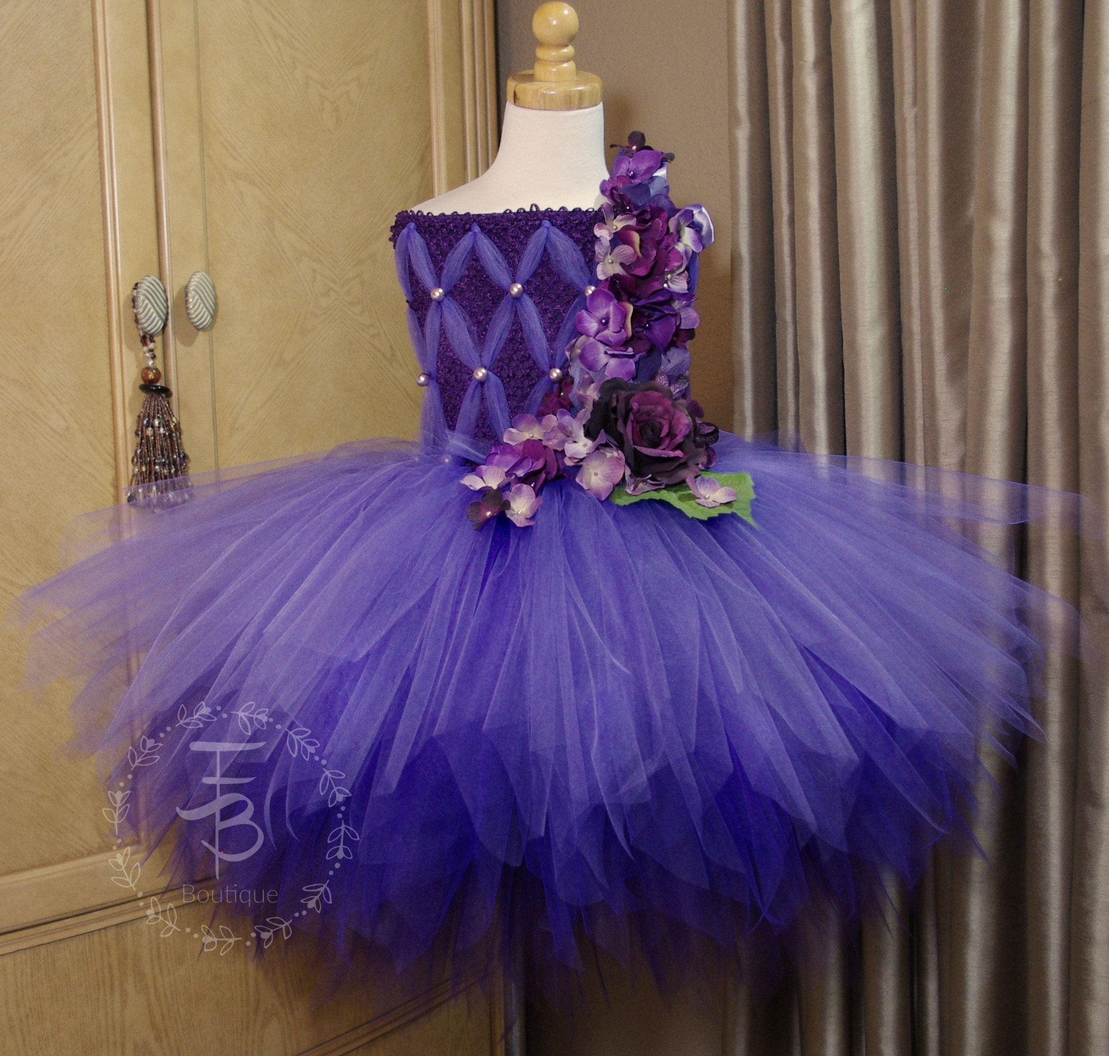 Eggplant Tutu Dress Birthday Photo Prop Halloween Fairy Etsy Purple Tutu Dress Fairy Dress Dresses [ 2166 x 2276 Pixel ]