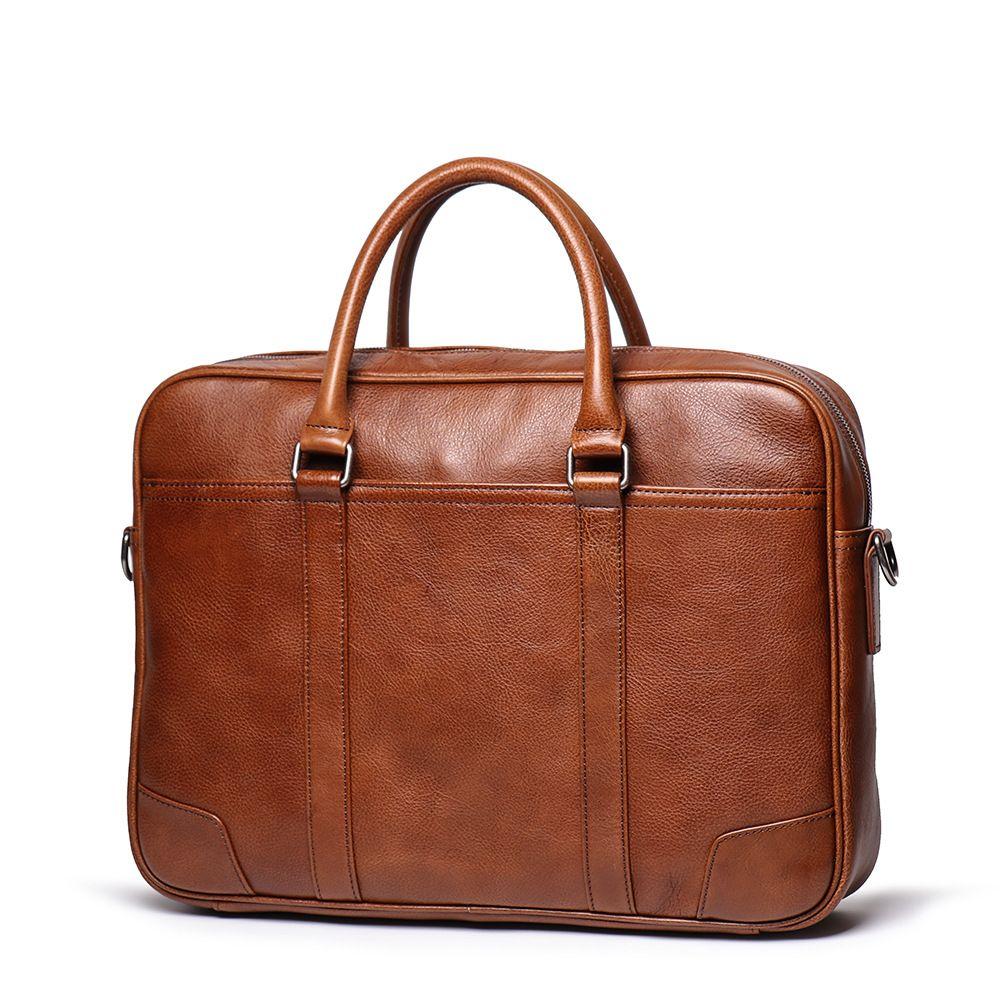 Vintage Men Business Bag Laptop Bag Soft Real Leather Briefcase Bag Male Luxury Larg In 2020 Leather Briefcase Bag Leather Briefcase Men Leather Briefcase Men Business