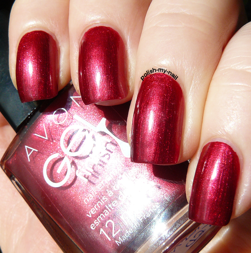 Velvet Nail Polish: Avon Gel Finish Red Velvet #nails #red