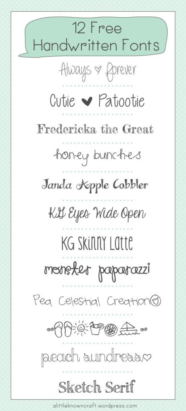 845491215f2 12 Free Handwritten Fonts - A Little Known Craft - Peach Sundress is one of  my all time faves  )