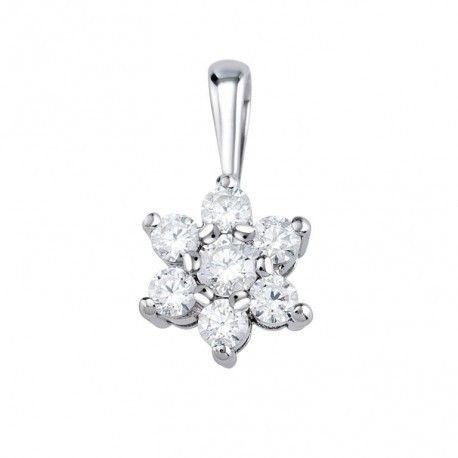 4fde276ce4af Novedades joyas de oro y diamantes Colgante de oro blanco y diamantes