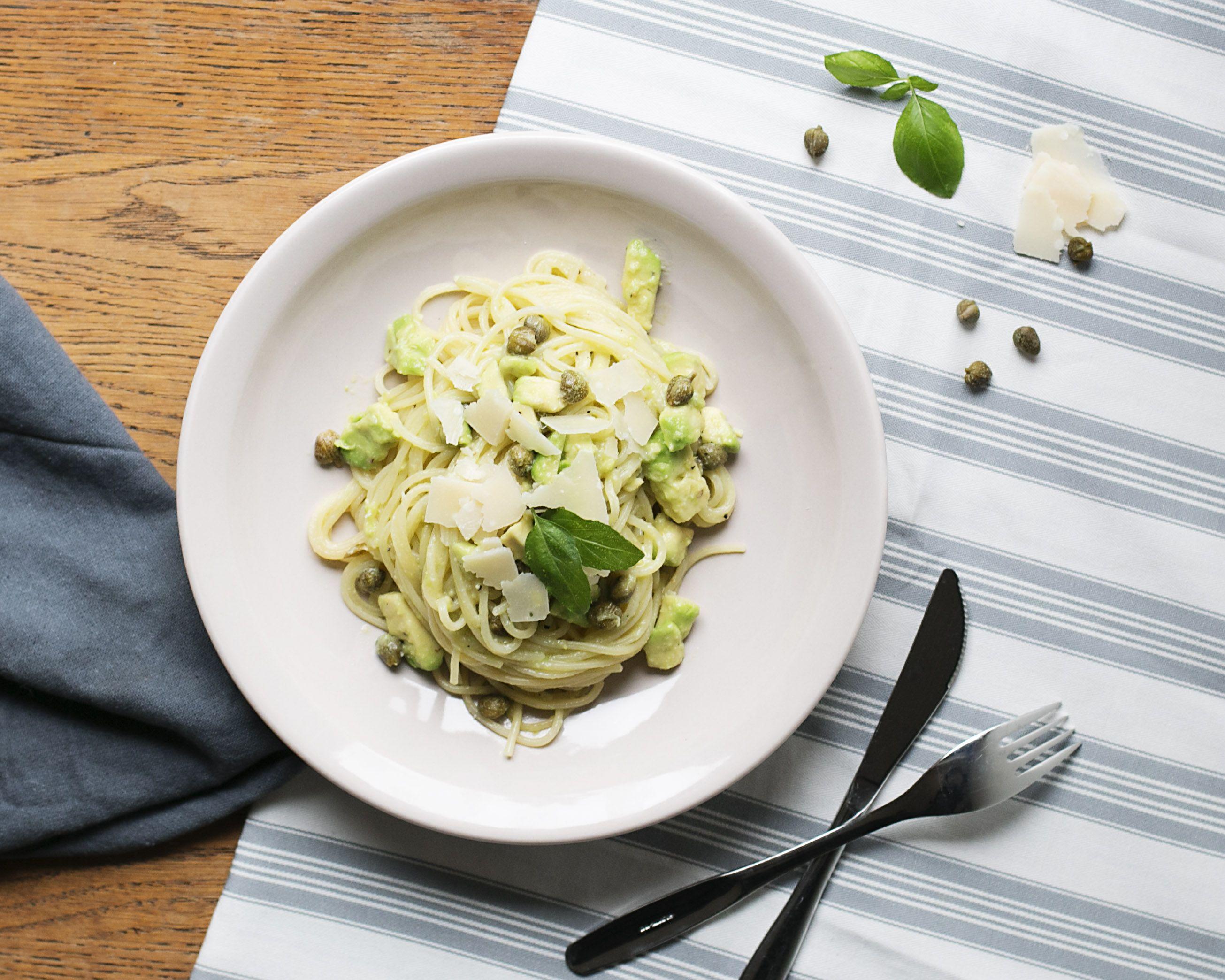 Tasty and easy lemon caper pasta