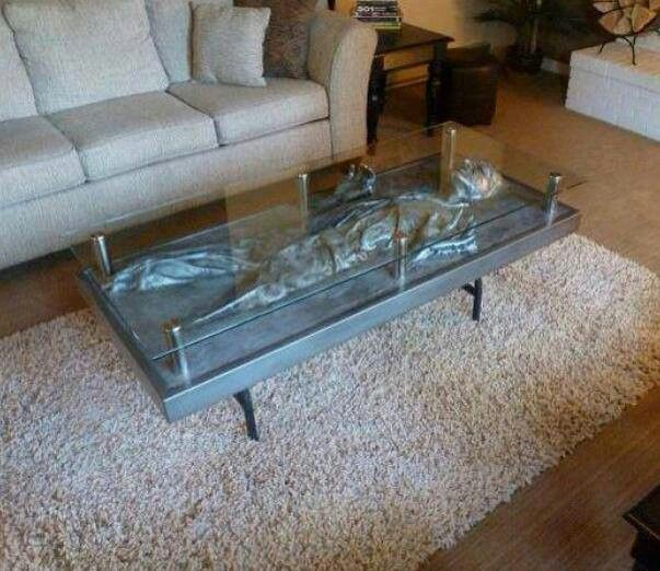 Han In Carbonite Coffee Table Custom Commission Coffee Table