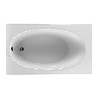 "Reliance Whirlpools Rectangle 59.25"" x 35.5""  Soaking Bathtub Finish:"
