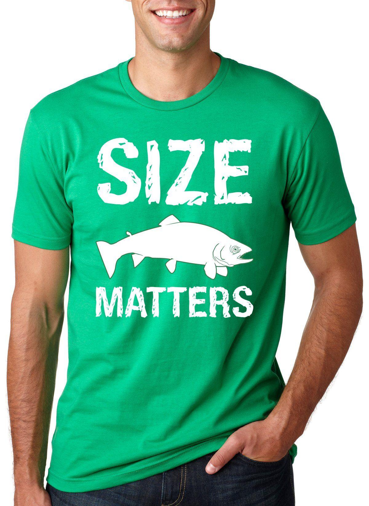 7a8cc451 Size Matters Fish T Shirt funny fishing shirt fish tee | interesting ...