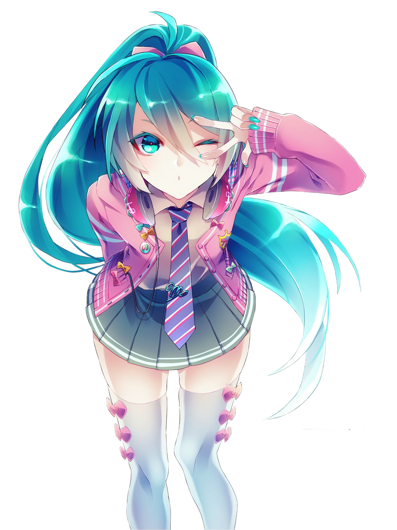 Transparent PNG Hatsune Miku by AnastasiyaV on