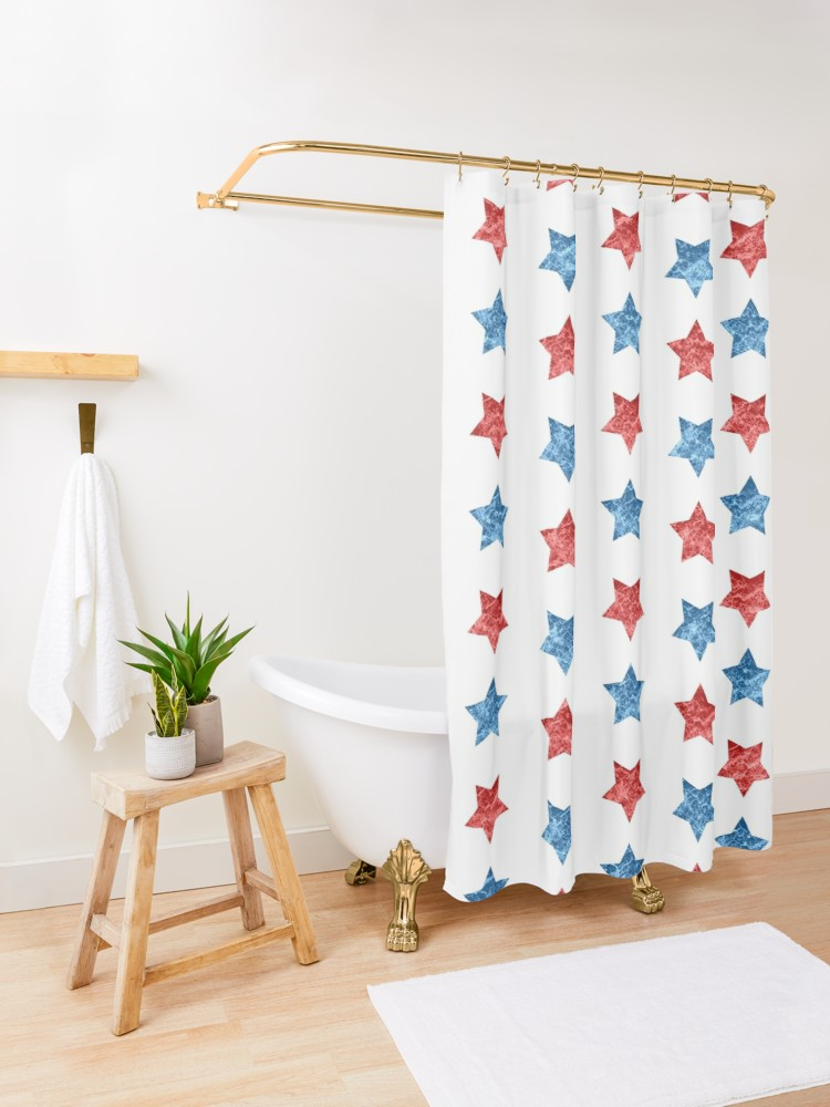 4th Of July Independence Day Pattern Shower Curtain By