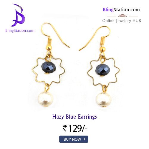 Get these Classy offbeat beaded earrings for your next Big Day.