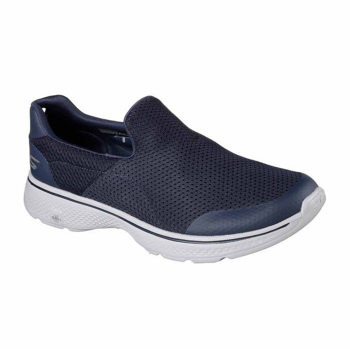 UK Outlet - Skechers Go Walk 4 Incredible Charcoal Mens Low Top Trainers