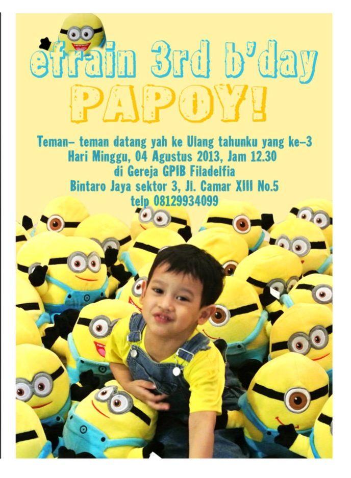 My son 3rd birthday celebration the invitation minion my son 3rd birthday celebration the invitation minion stopboris Gallery