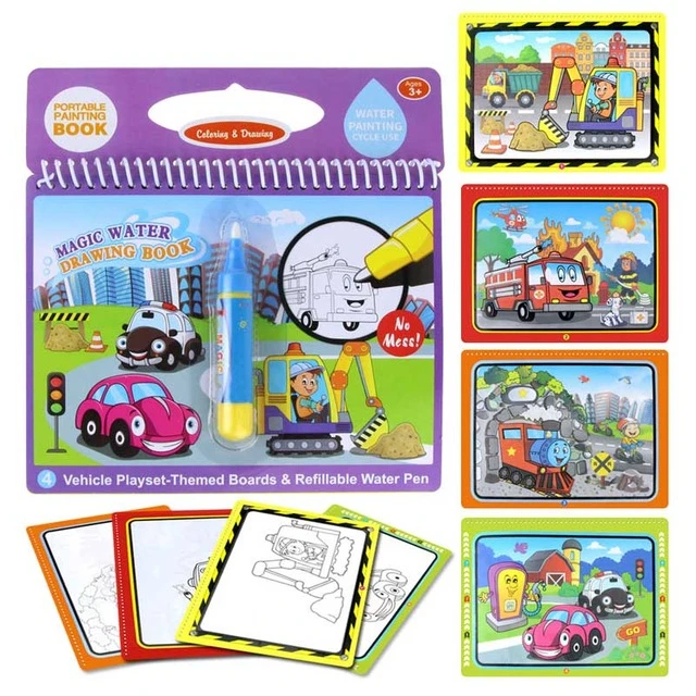 Water Based Magic Coloring Books Lilynbear Water Drawing Doodle Coloring Coloring Book Set