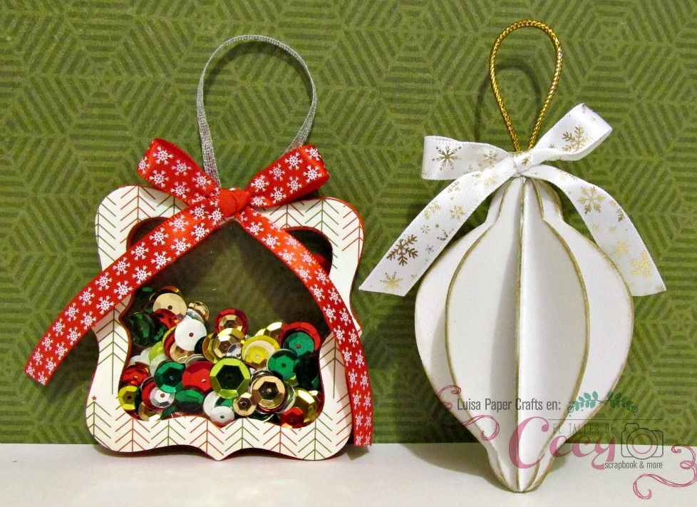 Luisa PaperCrafts Esferas Navideñas de papel Christmas ornaments