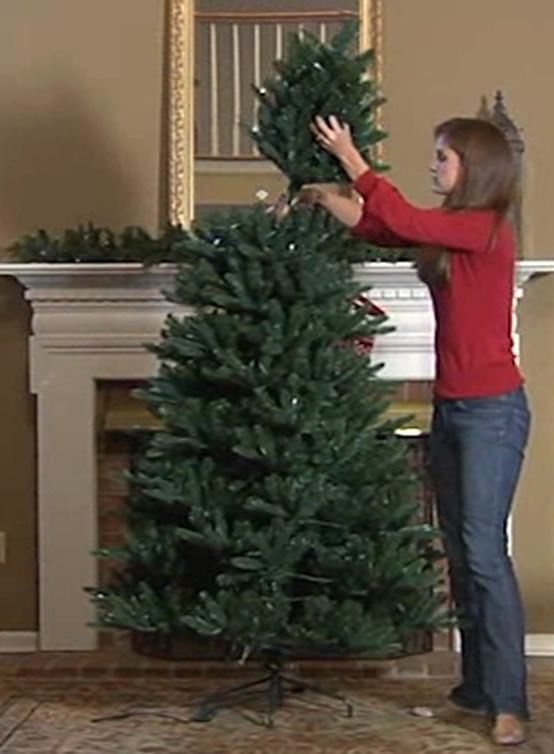 video santas best led pre lit pre shaped christmas trees are easy to assemble and ready to decorate in minutes