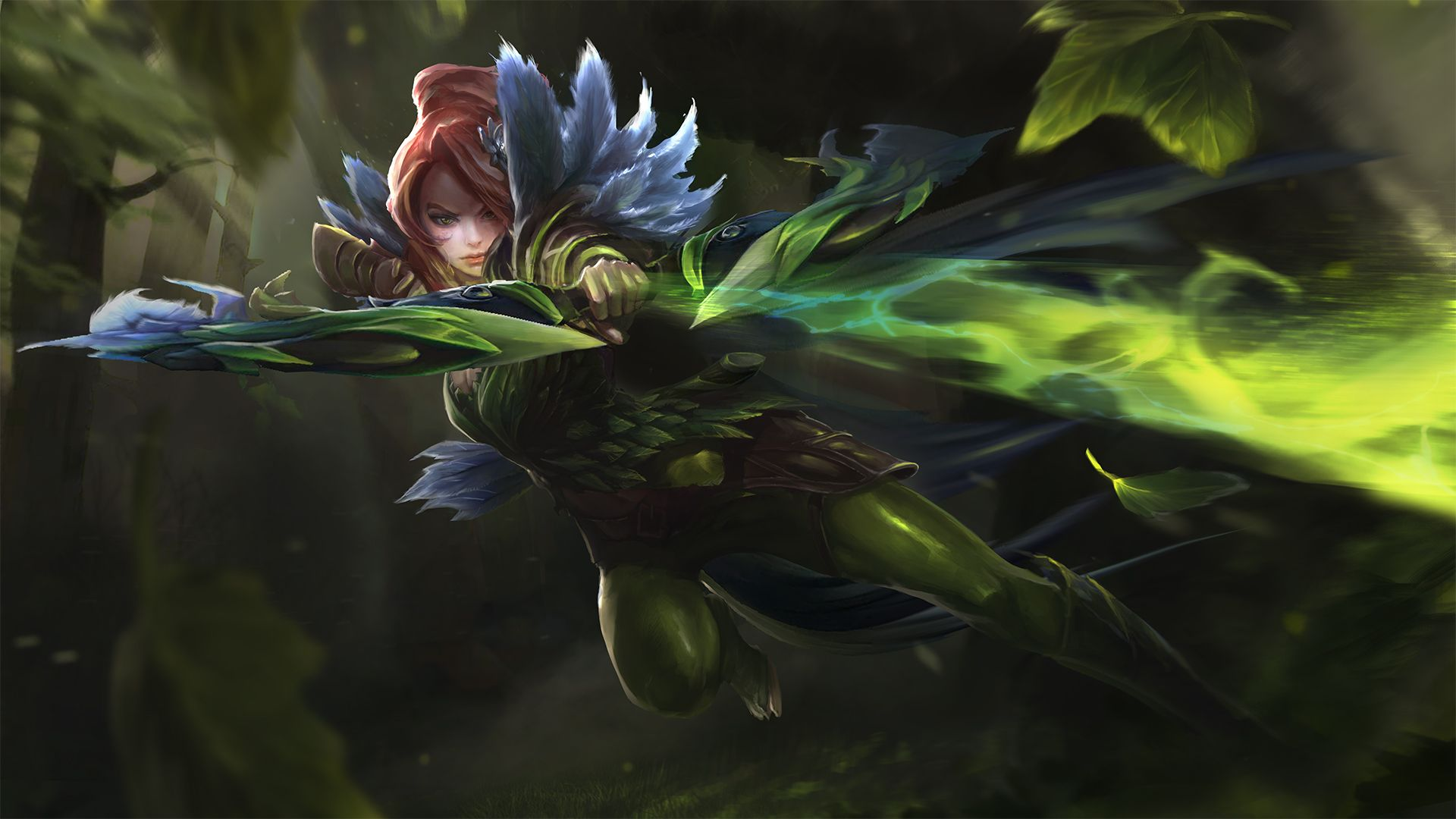 Song of the Blue Bird - Windranger #Dota2 | Fantasy art, Dota 2, Game  concept art