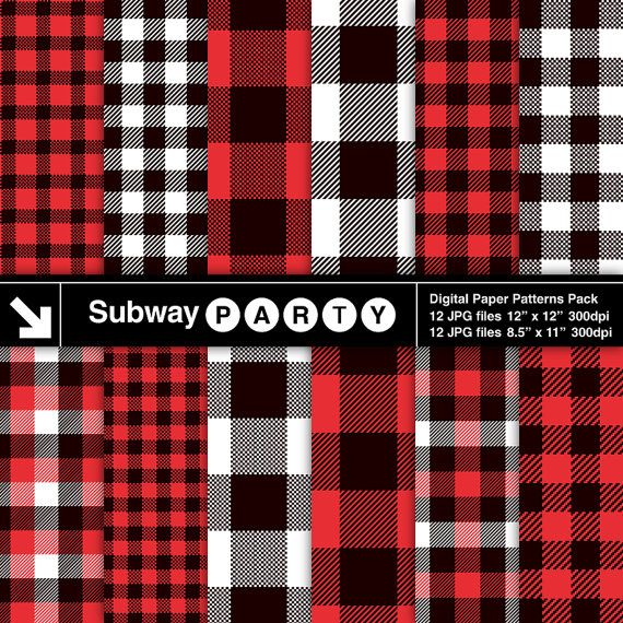 lumberjack flannel, buffalo check plaid red, black and white