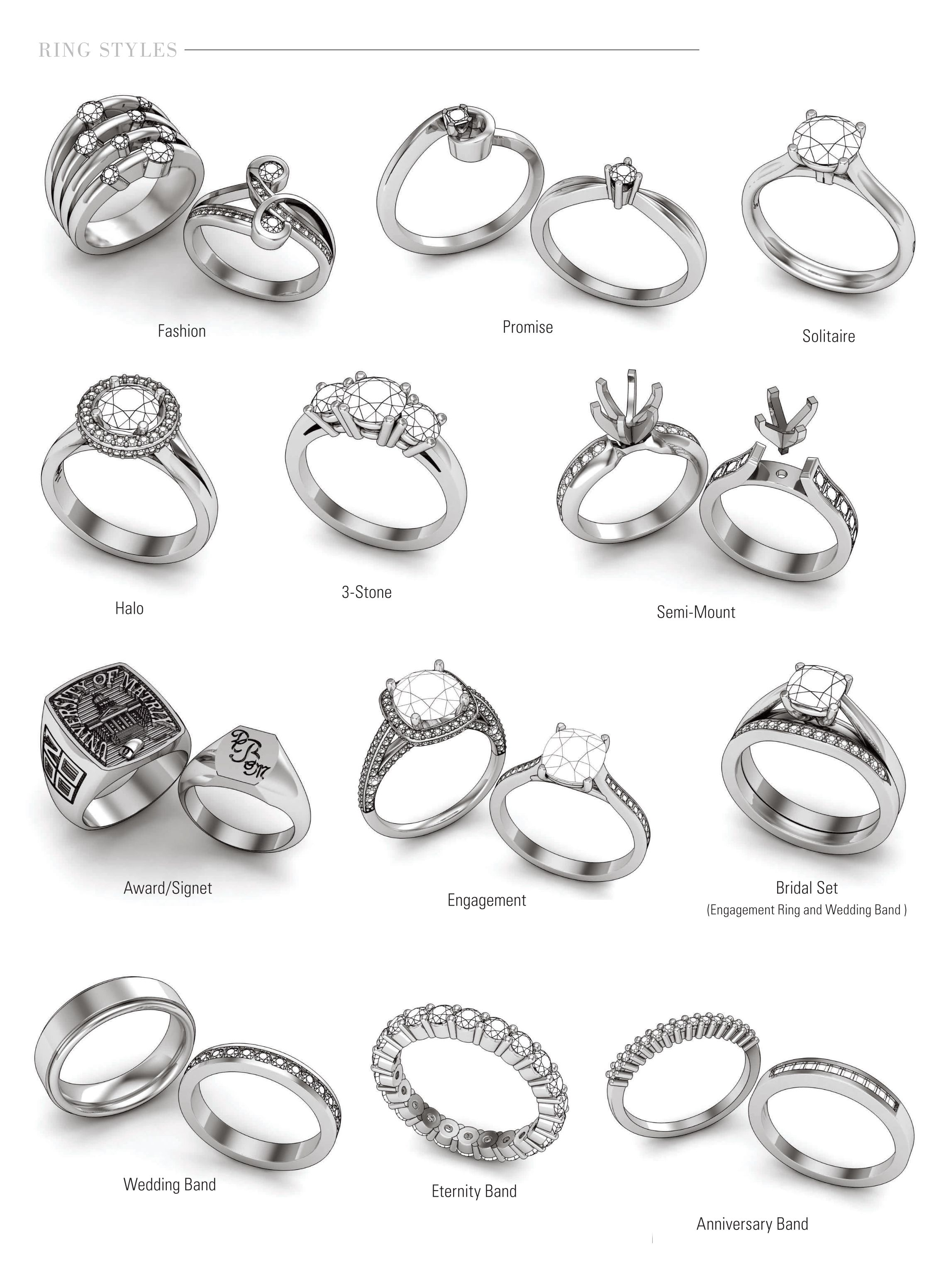 Ring Styles Fashion Rings Jewelry Drawing Jewelry Facts