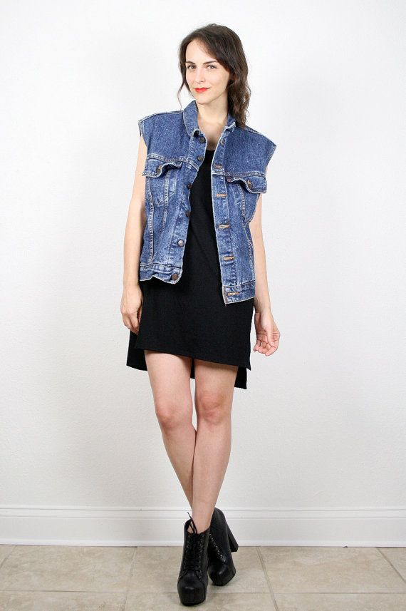 4878c4ea8221 Vintage 80s Denim Vest LEVIS Denim Jacket Sleeveless Jean Jacket ...