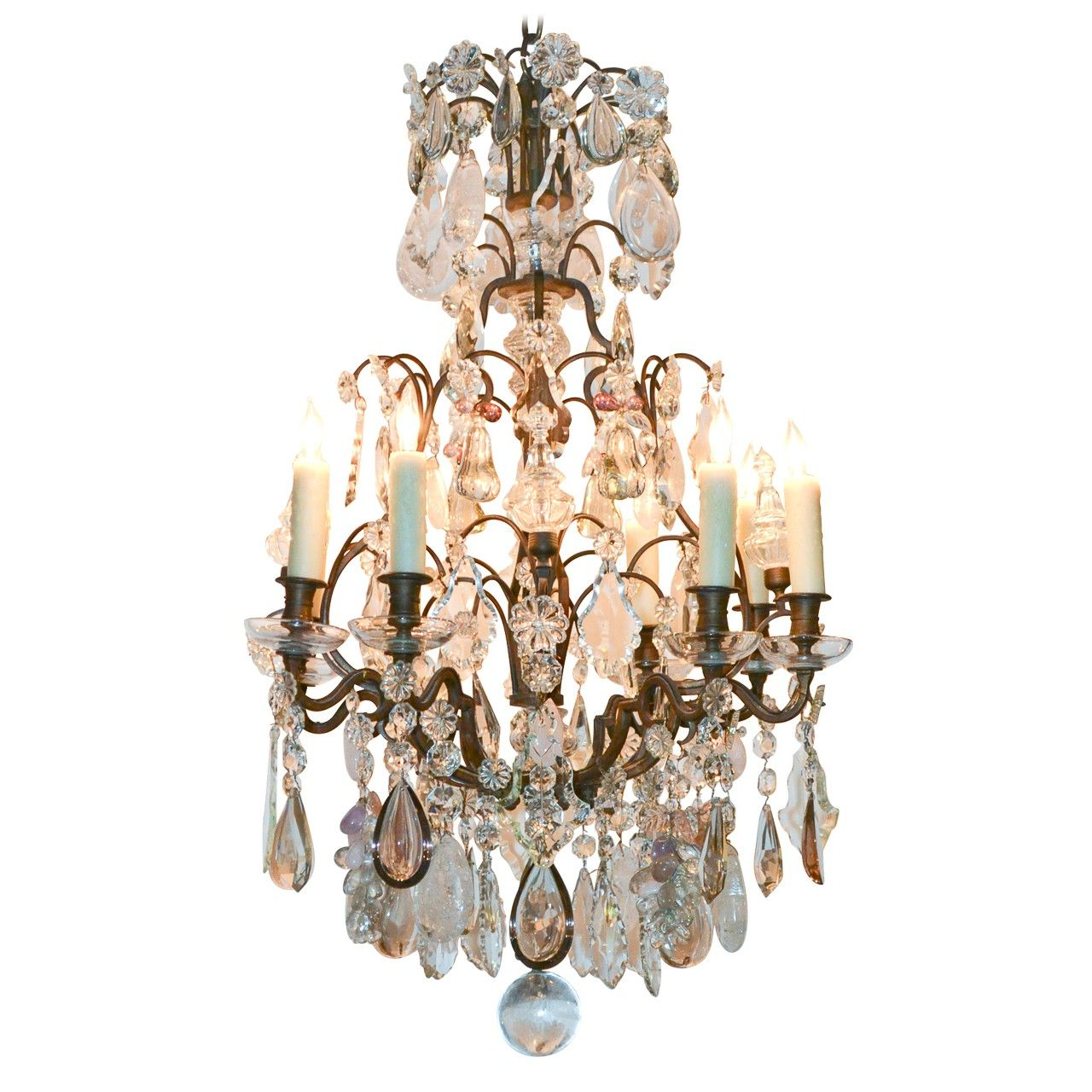 19th C. French Rock Crystal Chandelier - Antique Chandeliers - Antique  Lighting… - 19th C. French Rock Crystal Chandelier - Antique Chandeliers