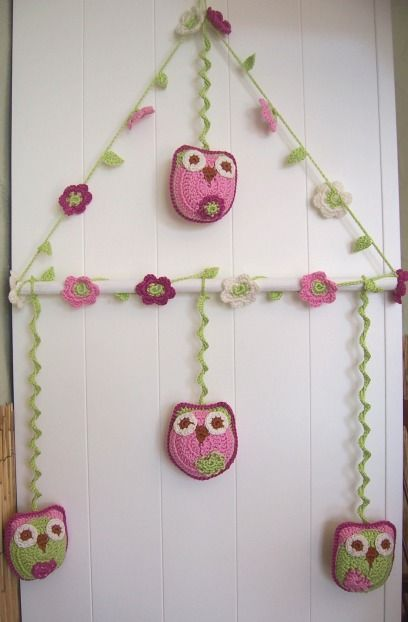 Crochet owl mobile | LECHUZAS CROCHET | Pinterest | Häkeln, Stricken ...