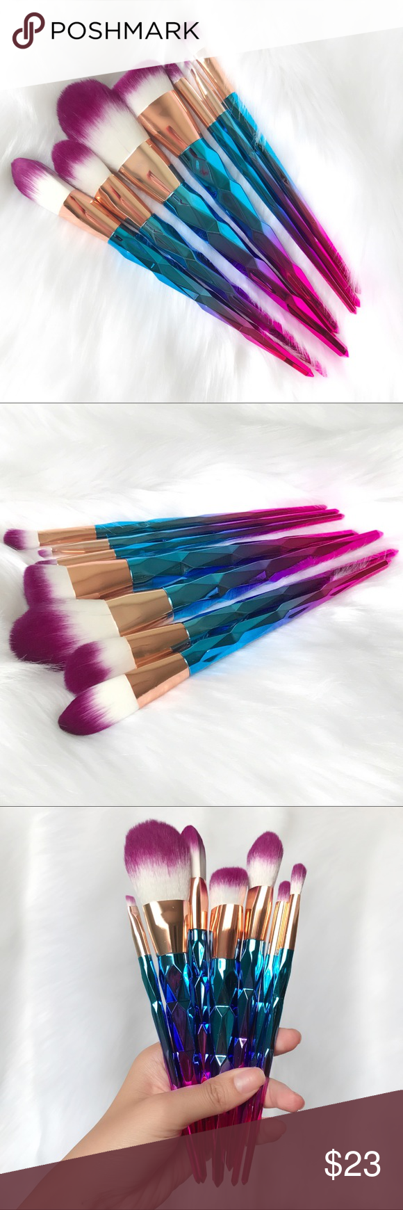 7pcs ombré makeup brushes New! Available and ready to ship