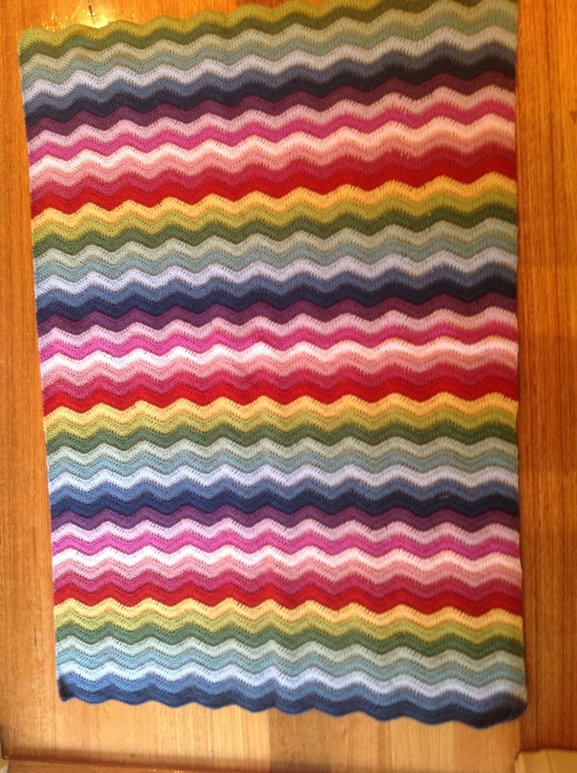 Baby Ripple Blanket Made Using Lucy S Pattern From Attic 24 I Used Debbie Bliss Baby Cashmerino Blanket Pattern Crochet