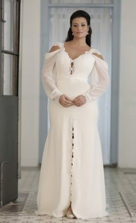 25658b2ad1 Bishop Sleeve Plus Size Wedding Gown. This can be made in ANY size and with  ANY changes. Total Custom designs are also available.