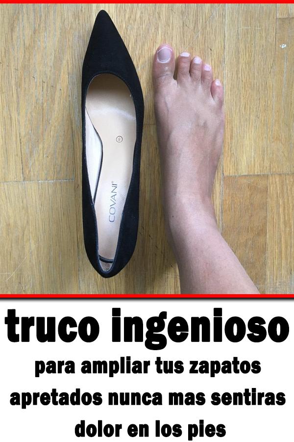 Truco Ingenioso Para Ampliar Tus Zapatos Apretados Nunca Mas Sentiras Dolor En Los Pies Salud Truco Cómo Agrandar Zapatos Dolor De Pies Como Limpiar Zapatos
