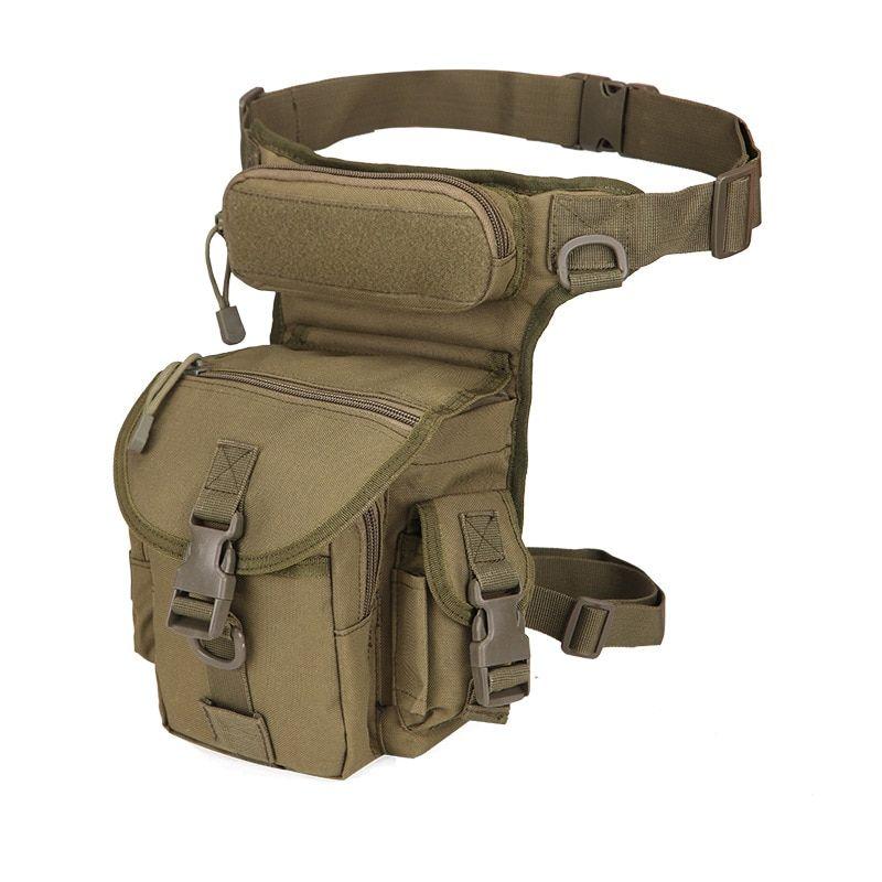 Men Canvas Drop Leg Bum Belt Waist Tactical Military Sling Camping Outdoor