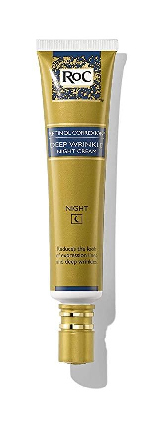 Amazon Com Roc Retinol Correxion Deep Wrinkle Anti Aging Retinol Night Cream 1 Ounce Beauty Retinol Night Cream Deep Wrinkles Night Creams