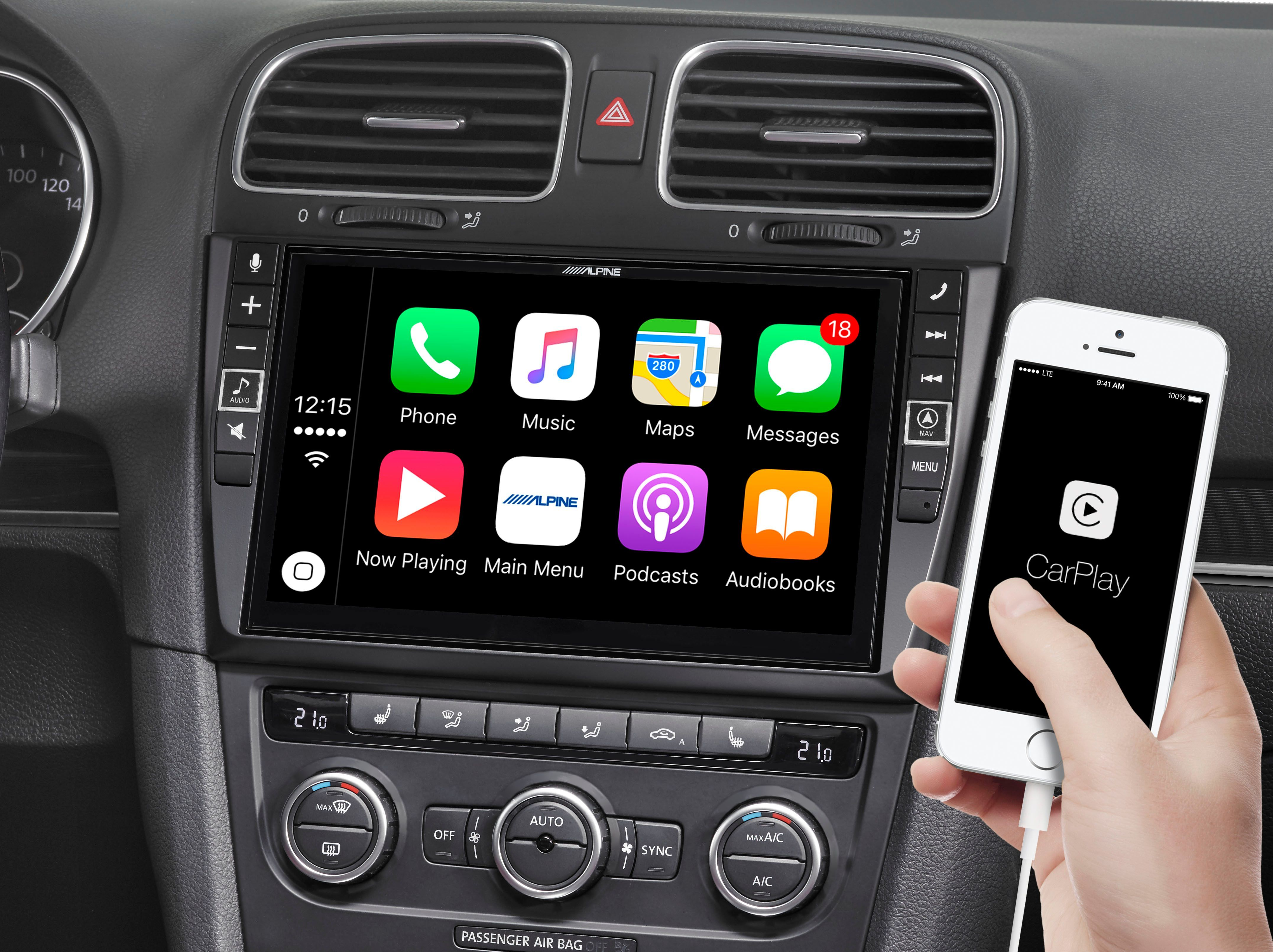 Add a 9-inch screen to your VW Golf VI with Apple CarPlay