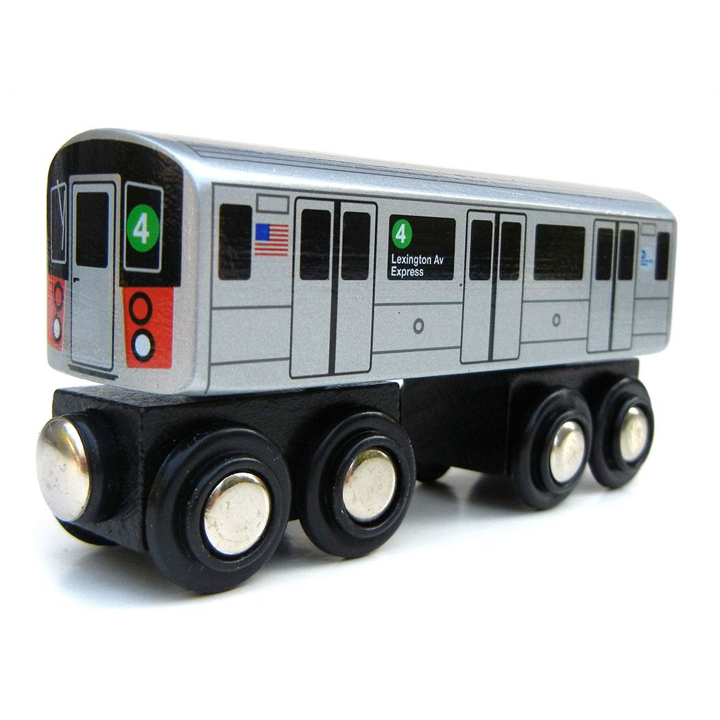 Munipals - NYC Subway Wooden (4 Train). | Toys | Pinterest