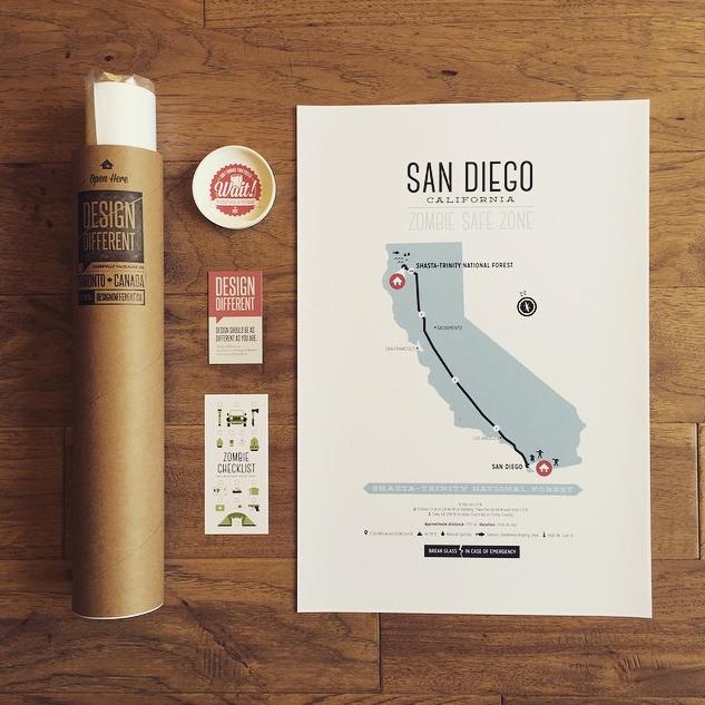 poster tube packaging branding and