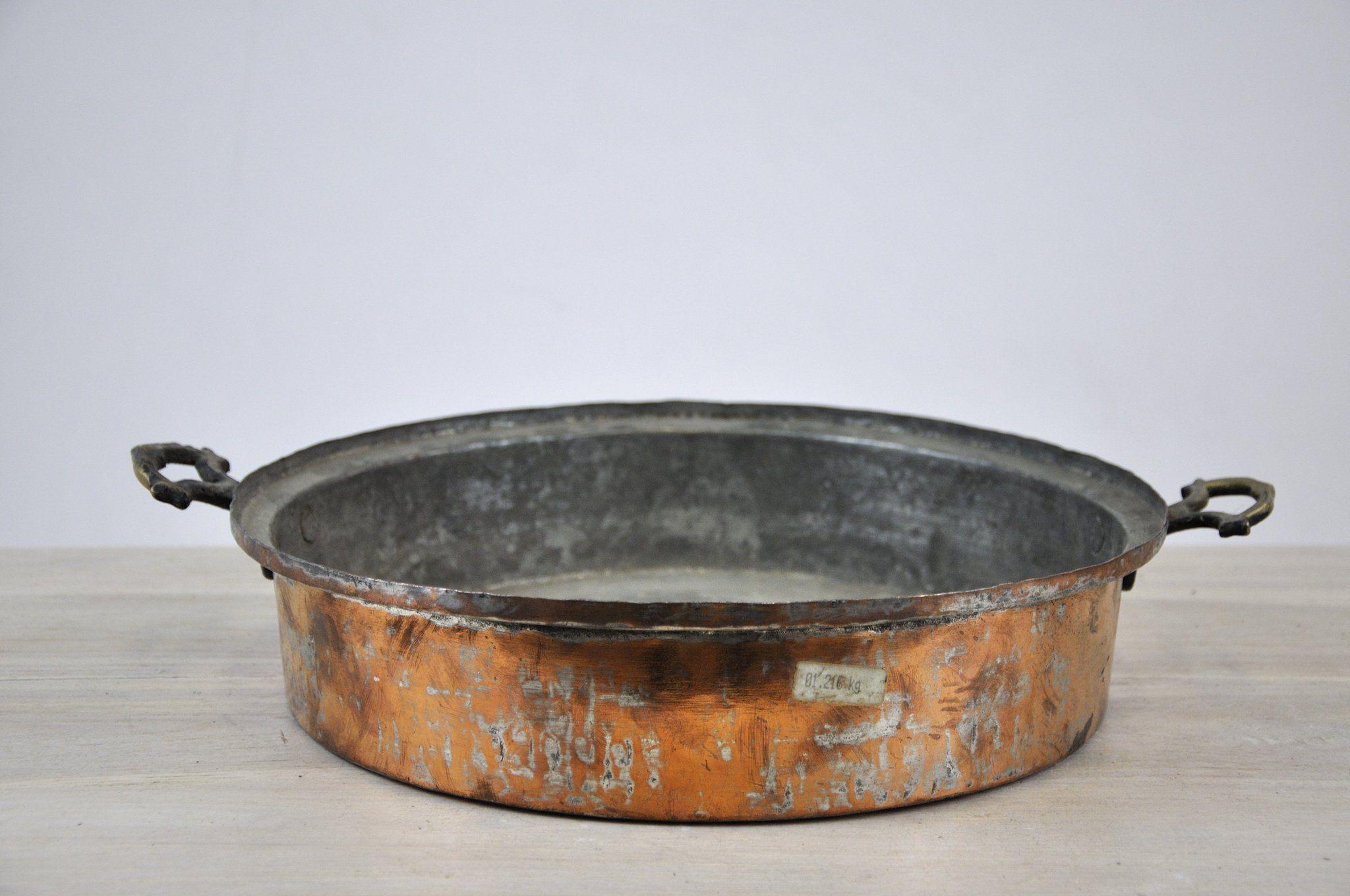 Oval Antique Copper Bowl Kupfer