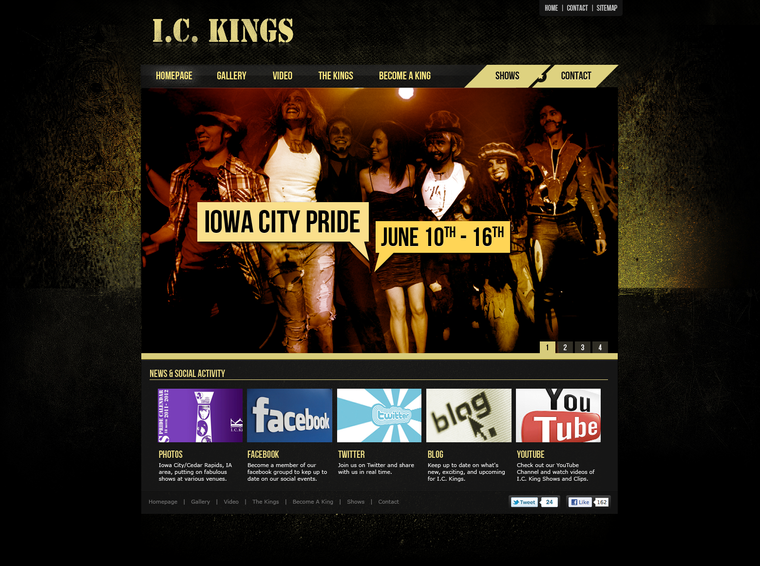 I C Kings Is A Website I Created For A Local Cedar Rapids Ia Group Web Design Custom Web Design Online Branding