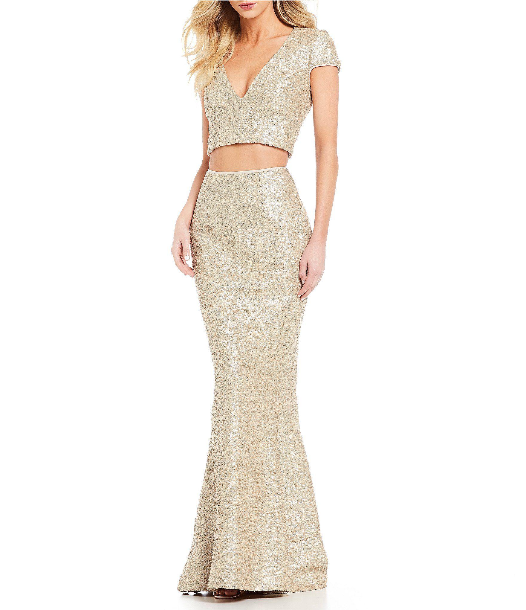aff6d528ac Dress the Population Cara Sequin Top and Skirt Set  Dillards ...