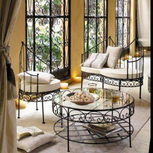 banquette essaouira iron furniture