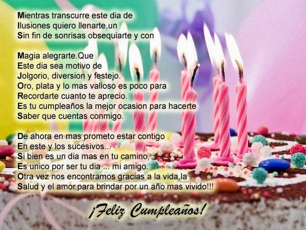 3 Hermosos Poemas De Feliz Cumpleaños Poemas De Cumpleaños