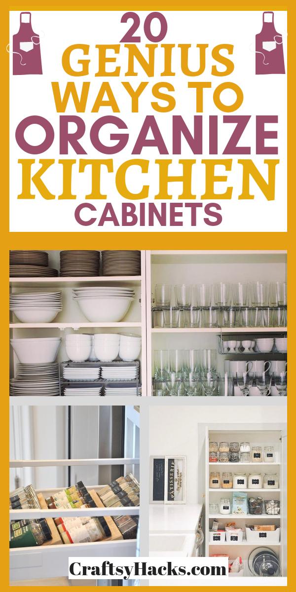 20 Genius Ways to Organize Kitchen Cabinets