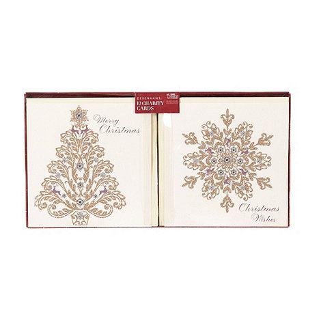 Debenhams Pack Of 10 Glitter Flock Charity Christmas Cards At Debenhams Com Charity Christmas Cards Christmas Cards Vintage World Maps