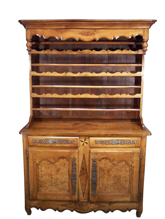 Louis XV Period Canopy Dresser in Cherry  Yew, ca 1760 Meubles