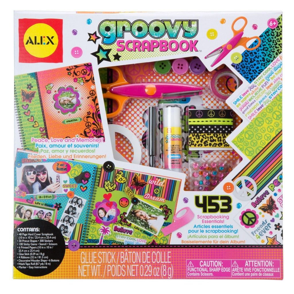 Alex Toys Craft Groovy Scrapbook Kit Alexbrands Com Kids Scrapbook Alex Toys Love Scrapbook