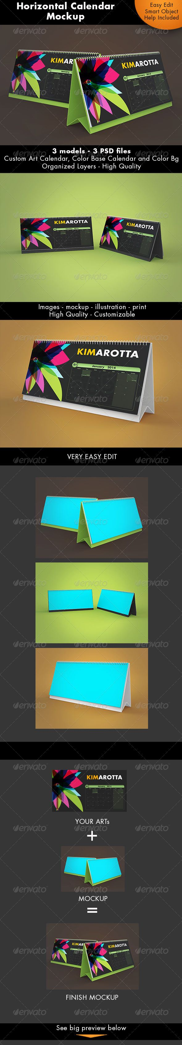 Horizontal Calendar Desk Mockup — Photoshop PSD #office #desk • Available here → https://graphicriver.net/item/horizontal-calendar-desk-mockup/7359269?ref=pxcr
