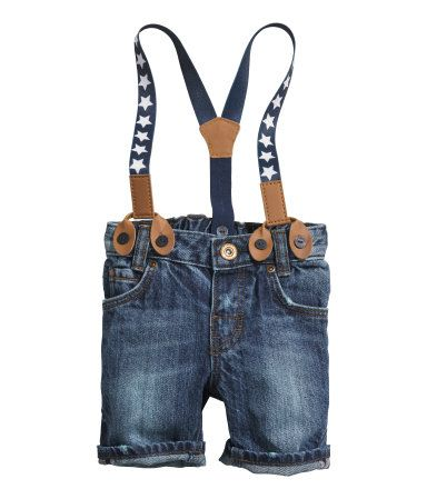 e3b73136 Denim Shorts with Suspenders $17.95 for kids| H&M US | Little Style ...