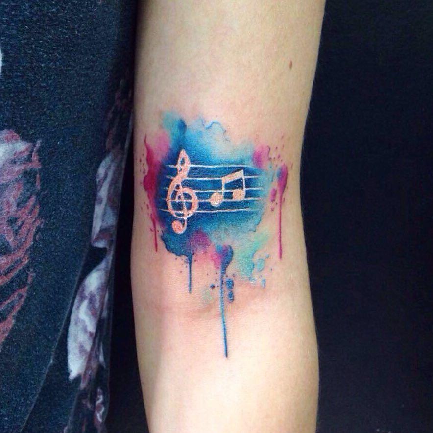 music watercolor tattoo tattoos pinterest watercolour tattoos watercolor and tattoo. Black Bedroom Furniture Sets. Home Design Ideas