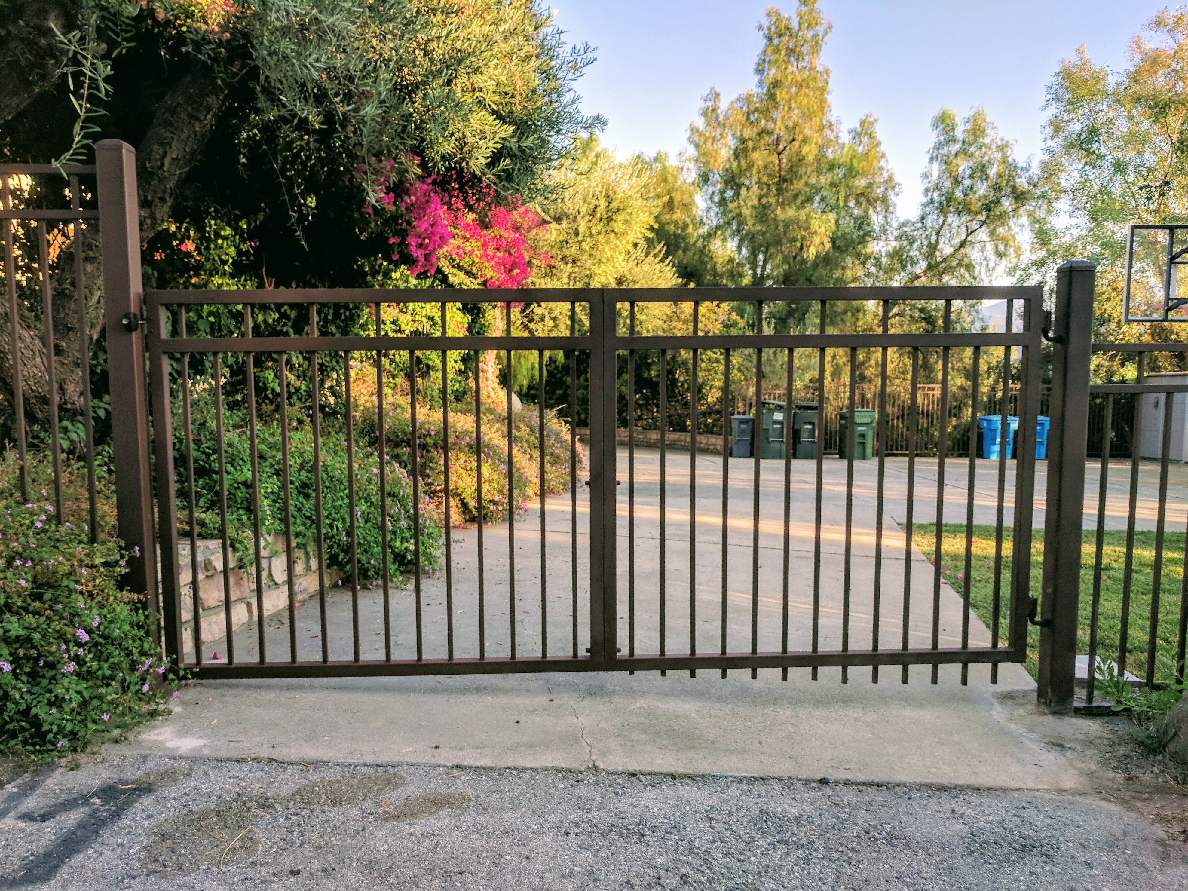 Store exterior with gate security gate