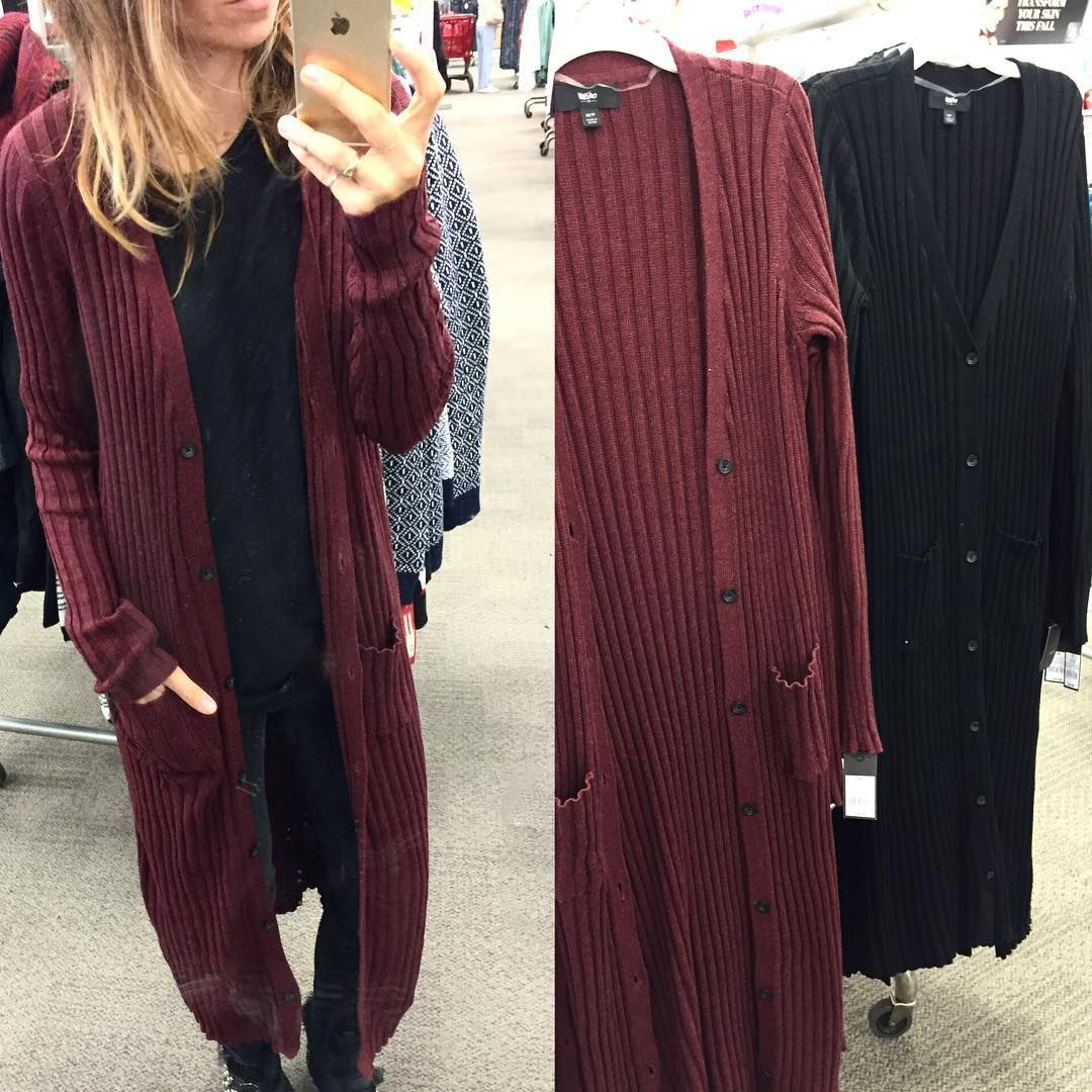 Ribbed maxi cardigan! $29.99 (or $24 if you use the cartwheel app ...