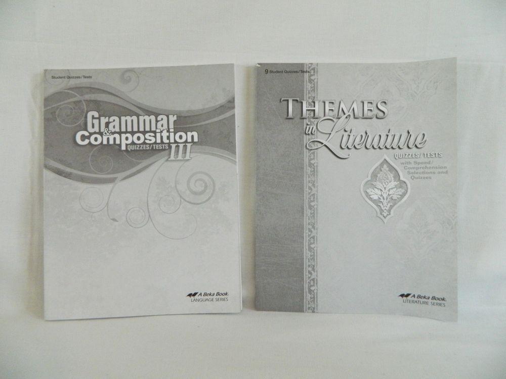 Details about ABeka Grammar & Comp III & Themes in Literature ...