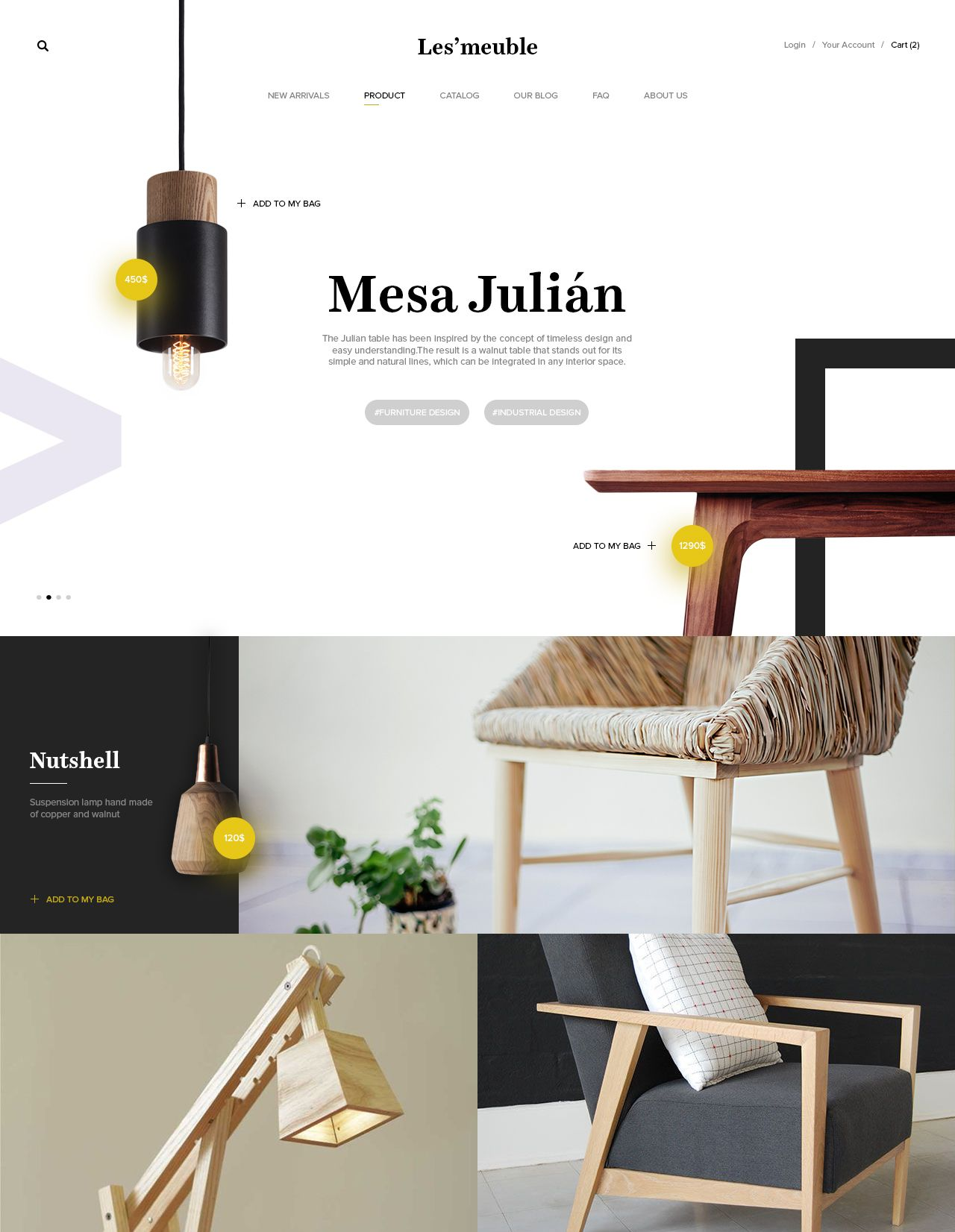 furniture website screenshot website layout freelance